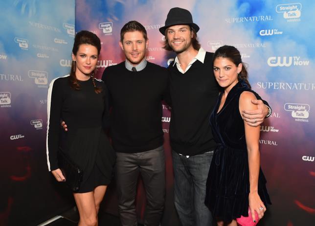 Jared Padalecki e Jensen Ackles con le mogli