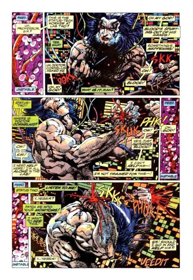 Il risveglio di Logan dopo l'innesto di adamantio a opera del progetto Arma X