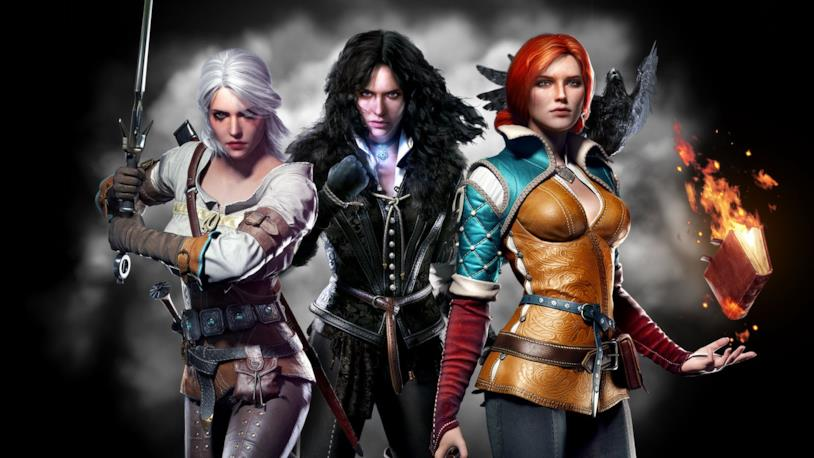 Ciri, Yennefer e Triss da The Witcher 3