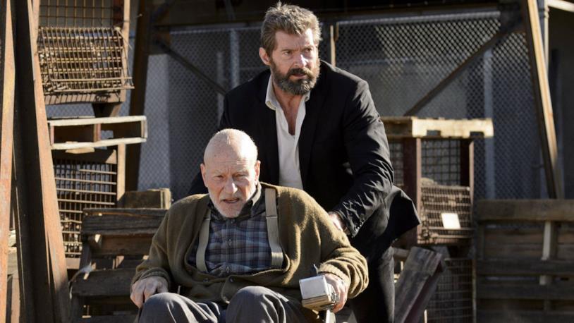 Hugh Jackman e Patrick Stewart in una scena del film