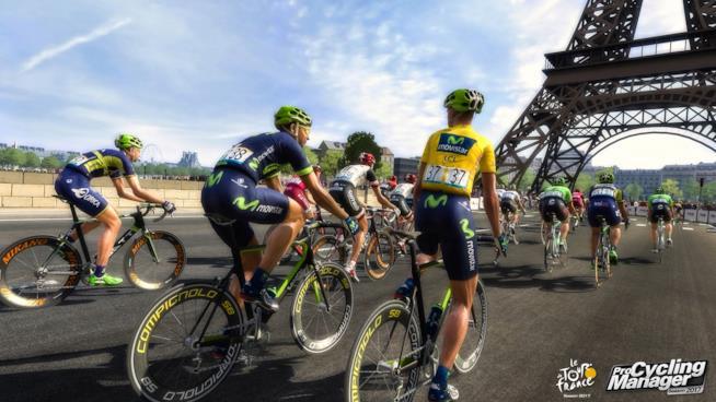 Ciclisti in corsa in uno scatto in-game di Tour de France 2017