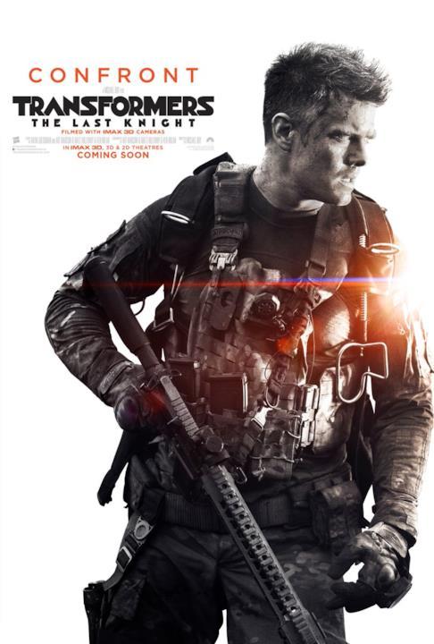 Josh Duhamel nel poster promozionale di Transformers: l'Ultimo Cavaliere