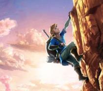 Link scala una montagna in The Legend of Zelda: Breath of the Wild