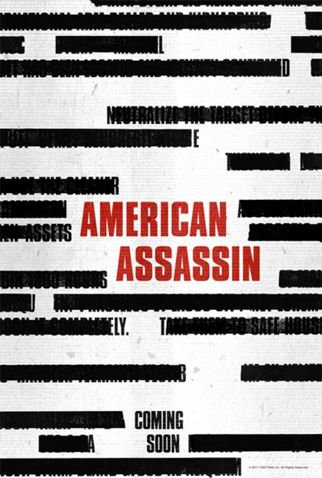 Poster americano del film con Dylan O'Brien American Assassin