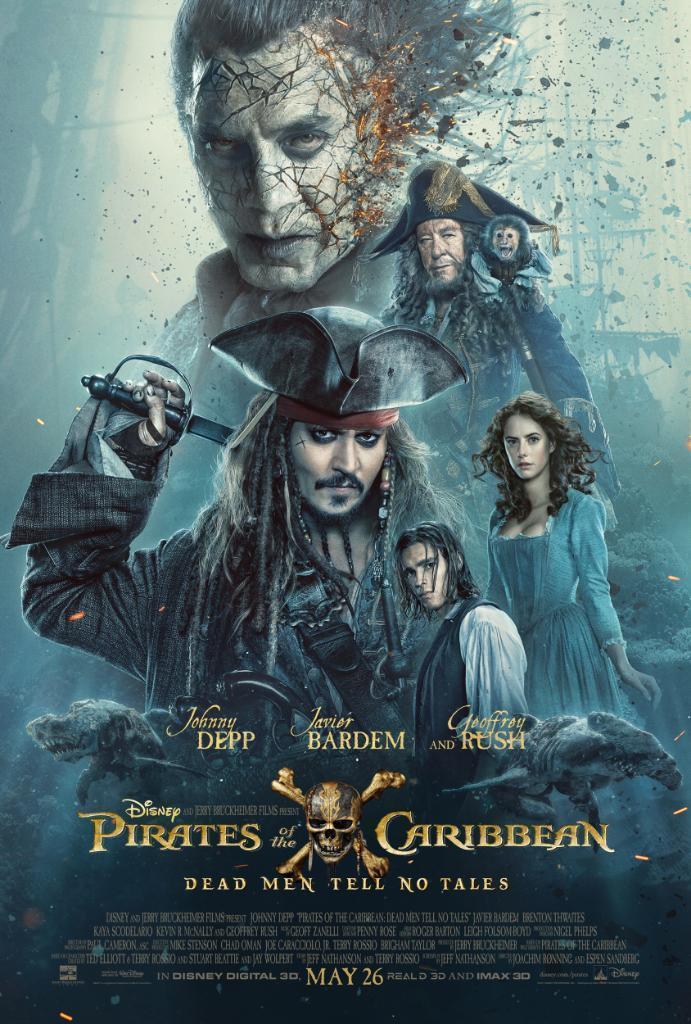 Jack Sparrow e i protagonisti di Pirati dei Caraibi 5