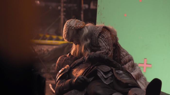Iain Glen ed Emilia Clarke girano la scena di morte di Jorah Mormont