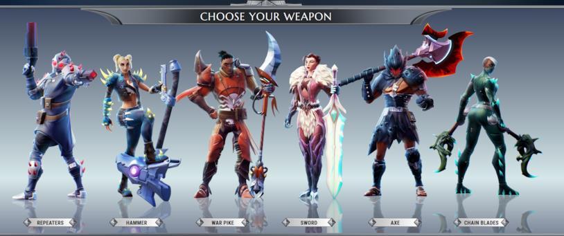 Dauntless i sei tipi di armi