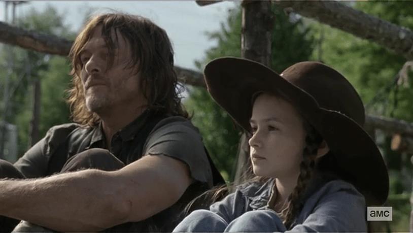 The Walking Dead 9x14, Daryl parla con Judith