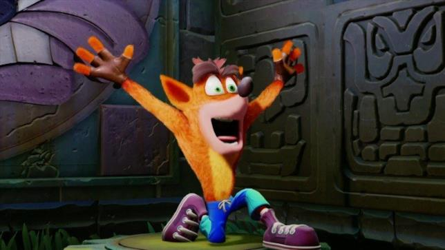 Crash in una scena del gioco