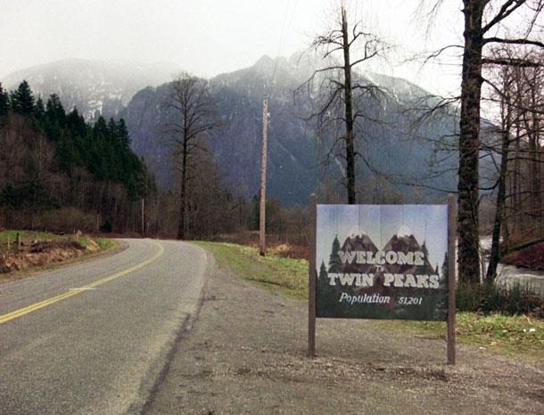 Il celebre cartello che annuncia l'arrivo a Twin Peaks