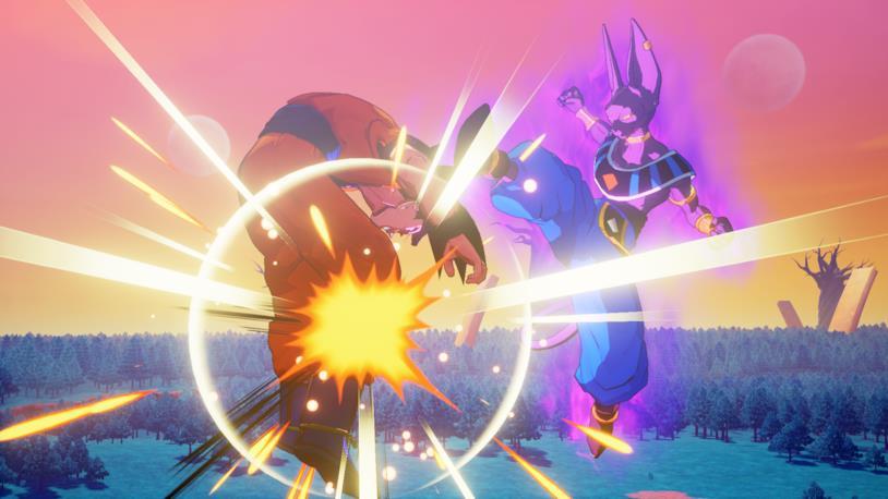 Goku vs Beerus Kakarot videogame