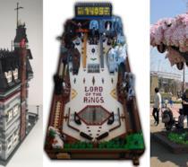 Set LEGO: casa della famiglia Addams, flipper e un albero di ciliegio