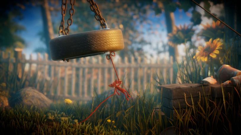Un esempio dello stile artistico e dinamico del videogioco Unravel