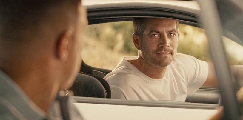 Una scena tratta dal finale di Fast and Furious 7
