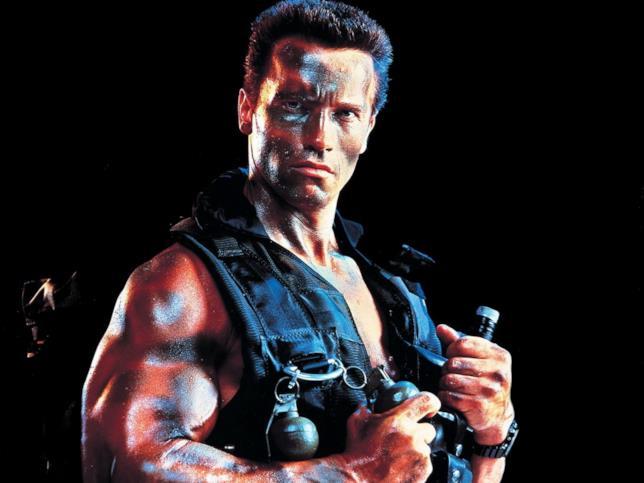 Arnold Schwarzenegger in un artwork di Commando