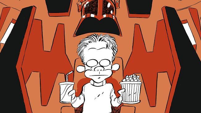 Leo Ortolani sulla copertina di CineMAH presenta Il Buio Colpisce Ancora