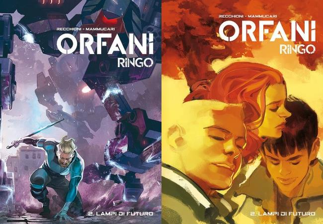 Le due copertine dell'edizione definitiva in volume di Orfani: Ringo 2