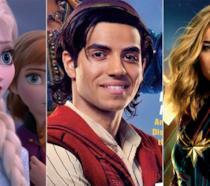 I protagonisti di Frozen 2, Aladdin, Captain Marvel