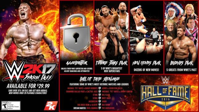 La lista completa dei DLC di WWE 2K17