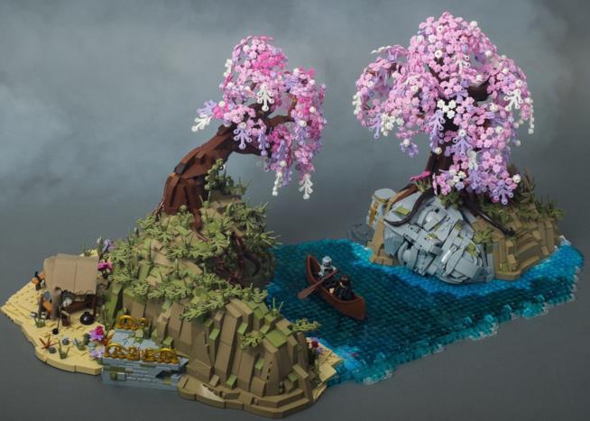 Alfheim in versione LEGO da God of War