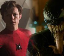 Tom Holland come Spider-Man e Venom