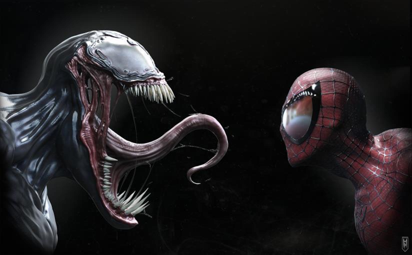 Venom ha qualcosa da dire a Spider-Man: una fanart