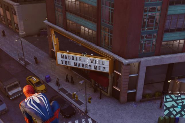 L'easter egg di Spider-Man con la proposta di matrimonio