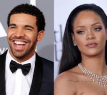 Primo piano di Rihanna e Drake