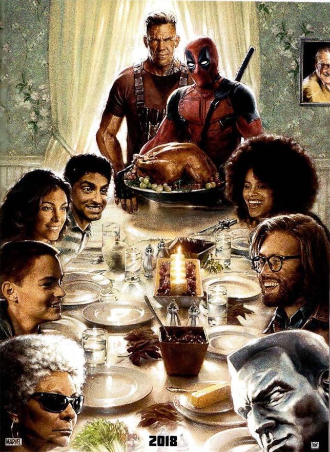 Il poster promozionale di Deadpool 2