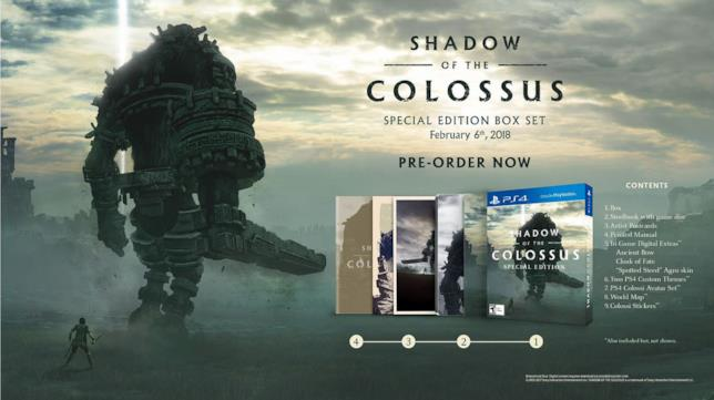La Special Edition di Shadow of the Colossus per PlayStation 4