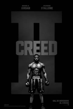 Poster di Creed II con Adonis in bianco e nero