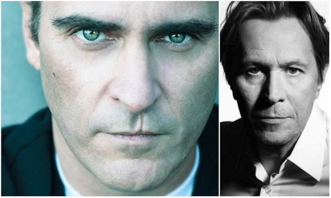 Un collage tra Joaquin Phoenix e Gary Oldman