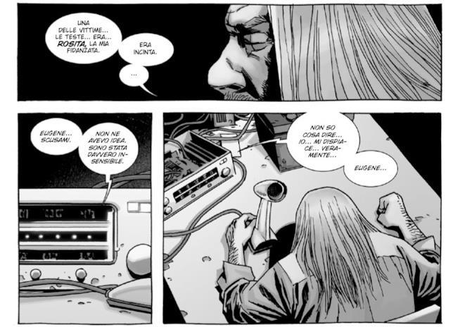 Eugene alla radio tenta di superare il lutto per Rosita