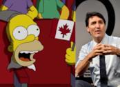 I Simpson: un collage con Homer e Justin Trudeau