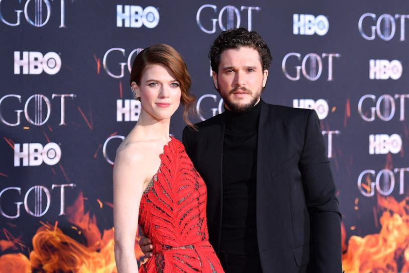 Rose Leslie e Kit Harington alla première di Game of Thrones 8