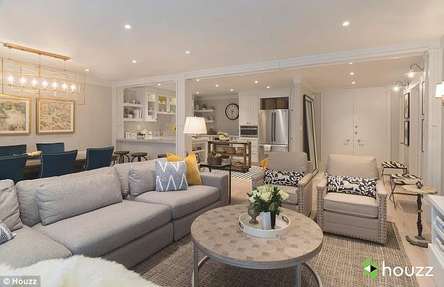 Il soggiorno di casa Kunis
