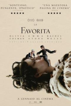 Il poster ufficiale italiano de La Favorita