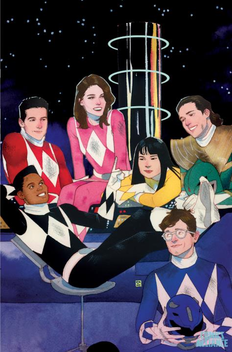 Variant cover di Mighty Morphin Power Rangers di Kevin Wada