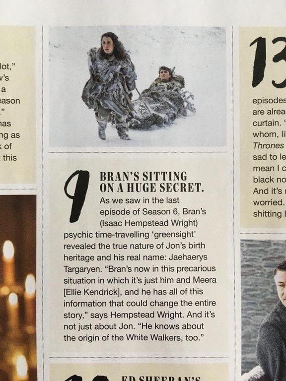 Il vero nome di Jon Snow in un articolo di Empire Magazine