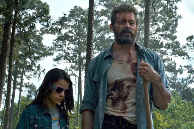 Una giovane X-23 e un vecchio Wolverine in Logan