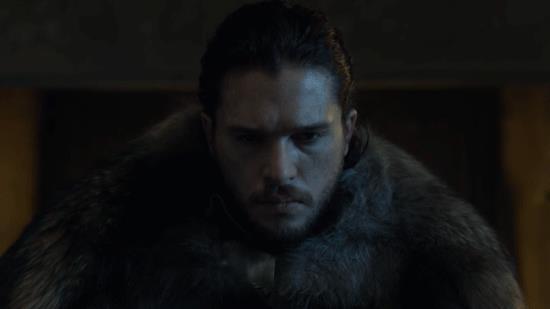 Un meme di Jon Snow di Game of Thrones
