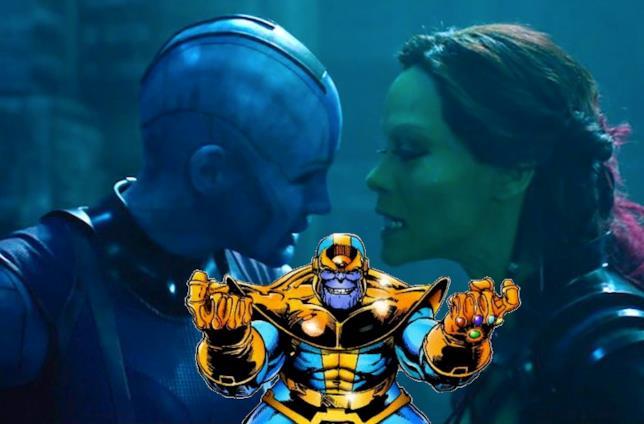 Thanos istiga Nebula e gamora