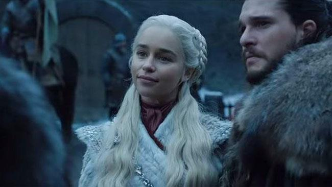 Daenerys Targaryen e Jon a Grande Inverno