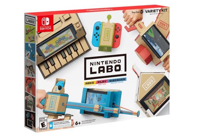 La confezione del Nintendo Labo: Variety Kit