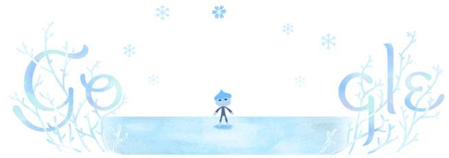 Il Google Doodle per il Solstizio d'Inverno 2018