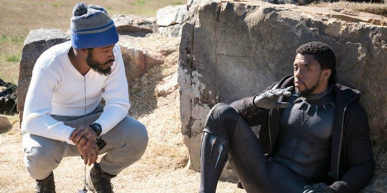 Ryan Coogler e Chadwick Boseman sul set di Black Panther