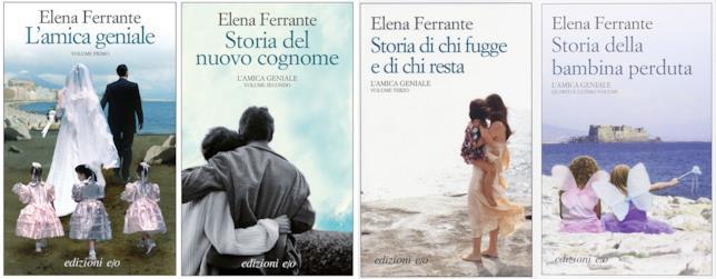 I 4 romanzi che compongono il ciclo de L'Amica Geniale di Elena Ferrante