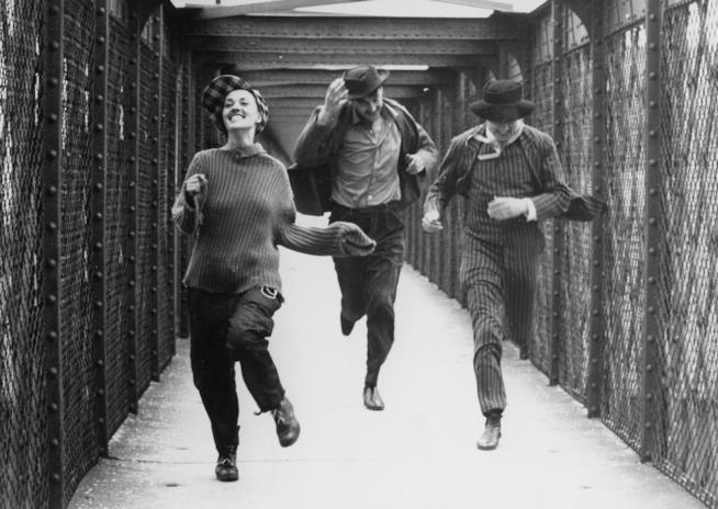 Jeanne Moreau in una scena di Jules & Jim