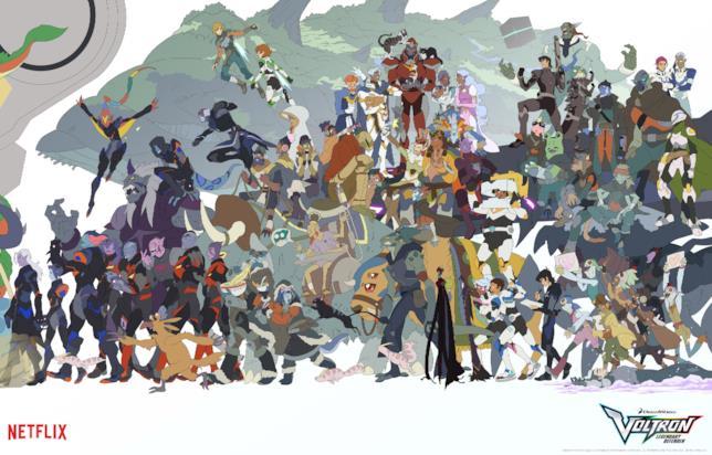 I personaggi del poster SDCC 2018 di Voltron: Legendary Defender