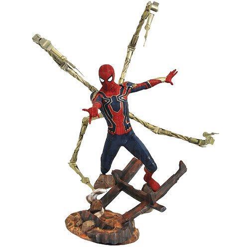 La statua in resina di Iron Spider di Marvel Première Collection